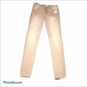 NWT Free People high waisted nude jeans